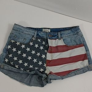 Forever 21 Stars and Stripes Cutoffs